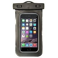 防水ケース スマホケース iphone 防水カバー 海 プール スマホカバー (ブラック)