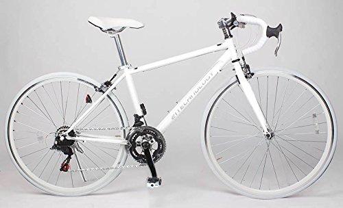 21Technology 700cロードバイク シマノ製14段変速ギヤ付き (CL27-700) (ホワイト/ホワイト)
