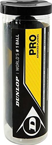 Dunlop PRO Squash Balls - Tube of 3 by Dunlop