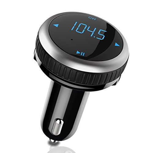 LOFTER FMトランスミッター Bluetooth 4.2 高音質 駐車位置ナビ ロケータ GPS機能付き CVCノイズ低減技術 ATSチップ FMラジオ 音楽再生 高音質ATSチップ ハンズフリー 電圧測定 iPhone/Android 正規メーカー 1年保証