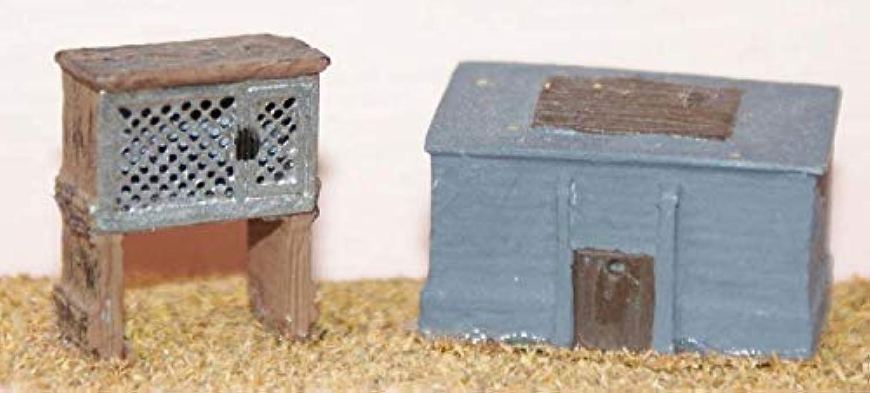 LangleyモデルRabbit Hutch + Coal Bunker OOスケール未塗装メタルモデルキットf97