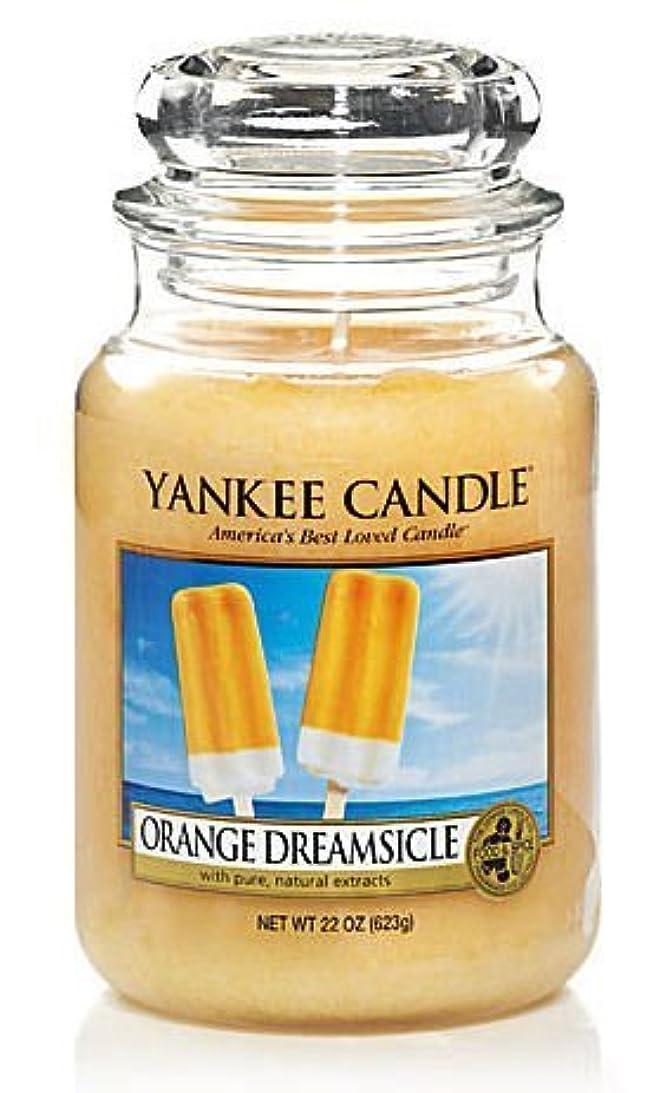シフトタイピスト透けて見えるYankee Candle Orange Dreamsicle Large Jar Candle, Food & Spice Scent by Yankee Candle [並行輸入品]
