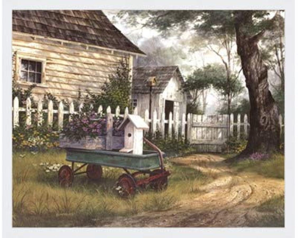 自宅で閃光祖母アンティークワゴンby Michael Humphries – 20 x 16インチ – アートプリントポスター LE_458661-F8989-20x16