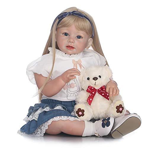 7ffa319ad49 可愛いリボーンベビーガールドール ゴールデンヘア 28インチ 70cm ソフトシリコン リアルな見た目 新生児