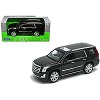Welly 1/24 Scale (18cm ) 2017 Black Cadillac Escalade SUV Diecast Model Car
