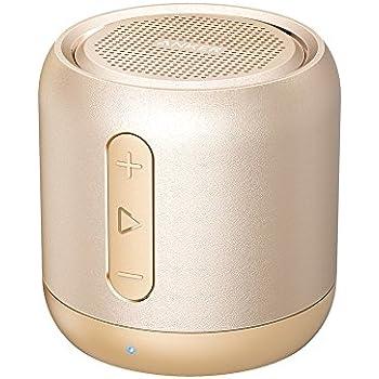 Anker Soundcore mini (コンパクト Bluetoothスピーカー) 【15時間連続再生 / 内蔵マイク搭載/microSDカード & FMラジオ対応】(ゴールド)