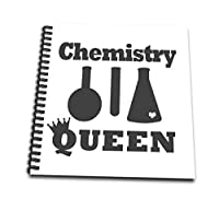 3dローズJanna Salak Designsテキストアート – Chemistry Queen – Drawing Book 4x4 notepad db_261631_3