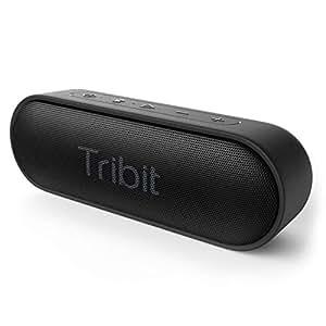 Tribit XSound Go Bluetooth スピーカー IPX7完全防水 12W ポータブルスピーカー 24時間連続再生 ブルートゥーススピーカー 低音強化/内蔵マイク搭載 ブラック