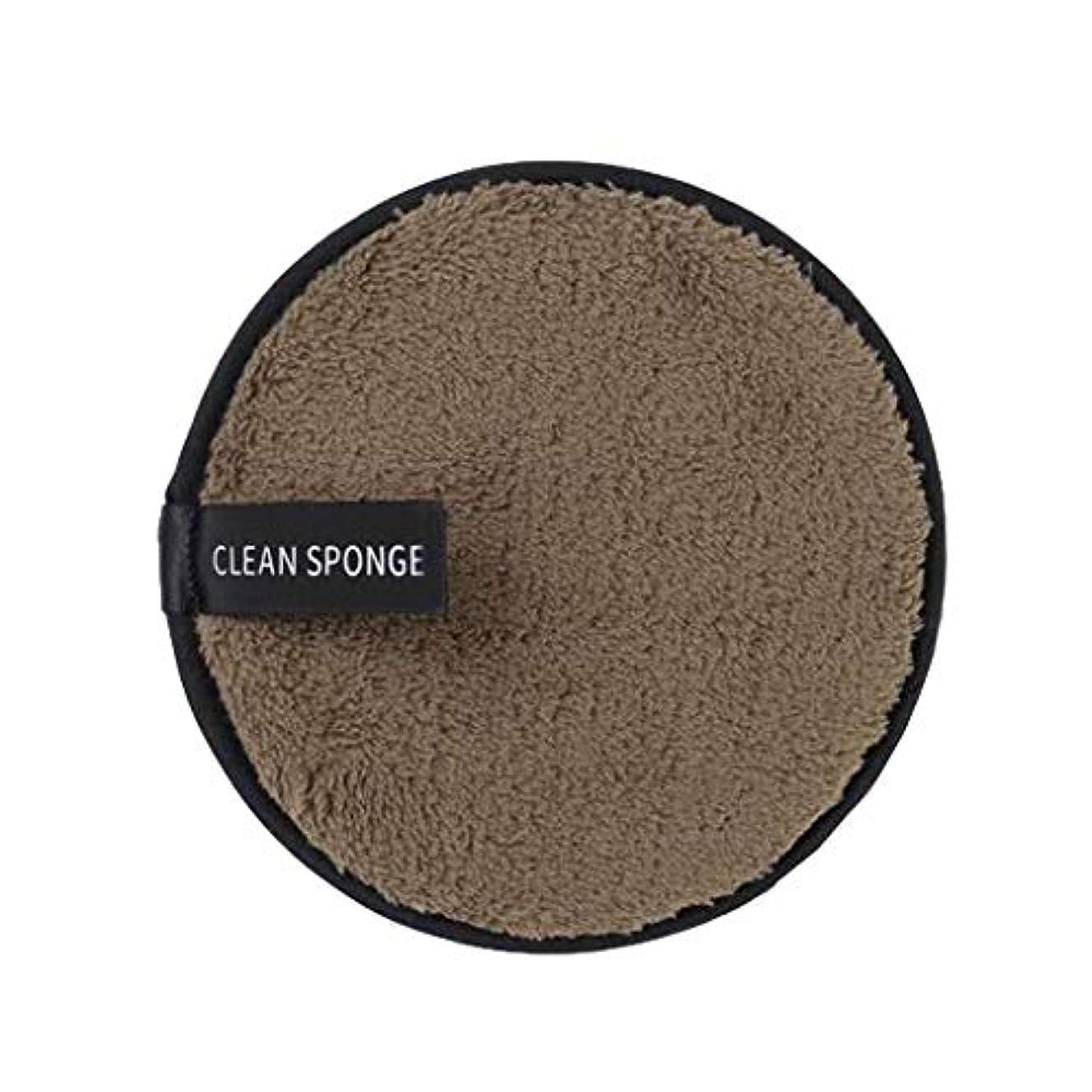 道路を作るプロセスプラグ家Dadela Clean Spongeマイクロファイバーク ロスパッド クリアウォーターレイジー メイクアップ メイク落としパウダー リムーバー クレンジングパフ スキンケア 両面 極細 再利用可能 快適 洗顔 (B)