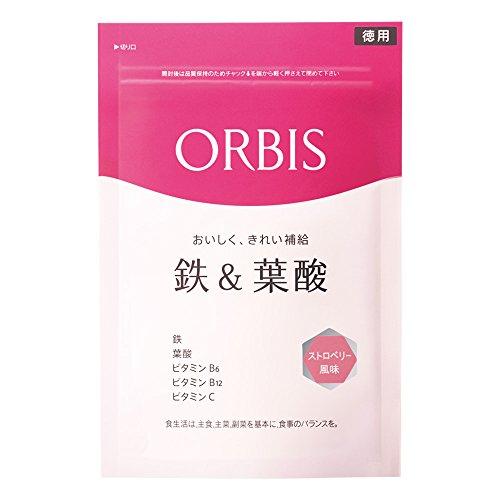 オルビス(ORBIS) 鉄&葉酸(ストロベリー風味) 徳用 75~150日分 ◎タブレットタイプ◎