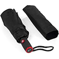 Best Small Black Automatic Portable Travel Totes Umbrella Compact Easy Touch Auto Open and Close Durable Waterproof & Windproof Umbrella, Strong Wind-Resistant Micro Mini for Women, Girls, Men & Boys