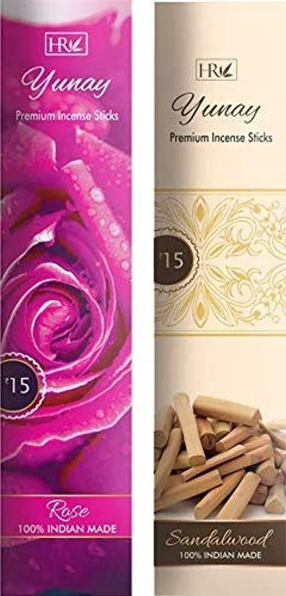 に関して義務づけるぶら下がるYunay Agarbatti Combo Pack of Rose and Sandalwood (8+8=16 Packets)