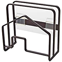 Senbowe まな板&鍋蓋スタンド 壁掛けラック スチール 多機能 キッチン 収納 まな板置き まな板立て (ブラック)