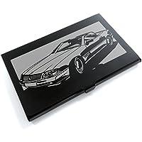 ブラックアルマイト「メルセデス・ベンツ(MERCEDES) SL129 」切り絵デザインのカードケース[CC-061]