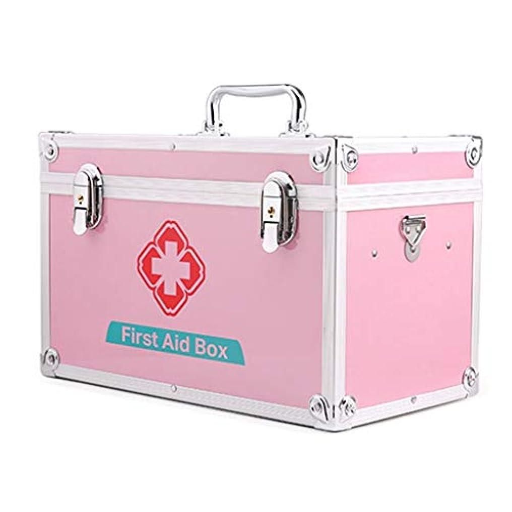 自宅で省略引数XKJPShop 救急箱 応急処置キットのロックできる医学の収納箱、医学の存続の緊急のキット袋 応急処置ケース、家庭、職場、学校 (Size : 16inch)