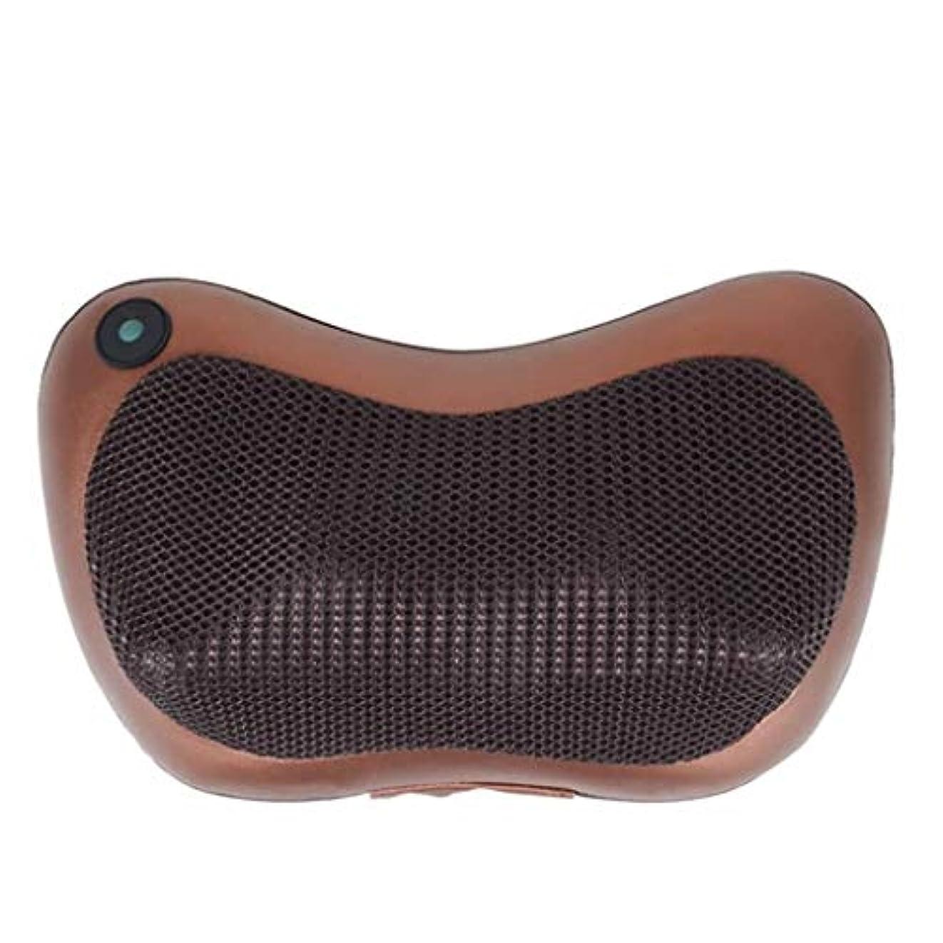 カイウスオンドラムネックマッサージケアデバイス、ネックマッサージピロー、多機能ボディポータブルマッサージャー、3Dディープニーディングマッサージ、血液循環/睡眠の促進、痛みと圧力の緩和、車/オフィス/家庭での使用に適しています