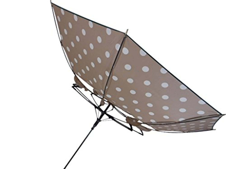 丈夫な傘 レディース ジャンプ式 長傘 58cm 耐風傘 ドット柄