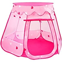 Babrit Pink Princess Castle Fairy House Outdoor Play Tent Indoor Play House [並行輸入品]