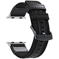 Accessory for Apple Watch Series 4 Halloween Hot Sale!!Natarura Luxury Canvas Leather Watch Band Wrist Strap for Apple Watch Series 4 44MM/40MM