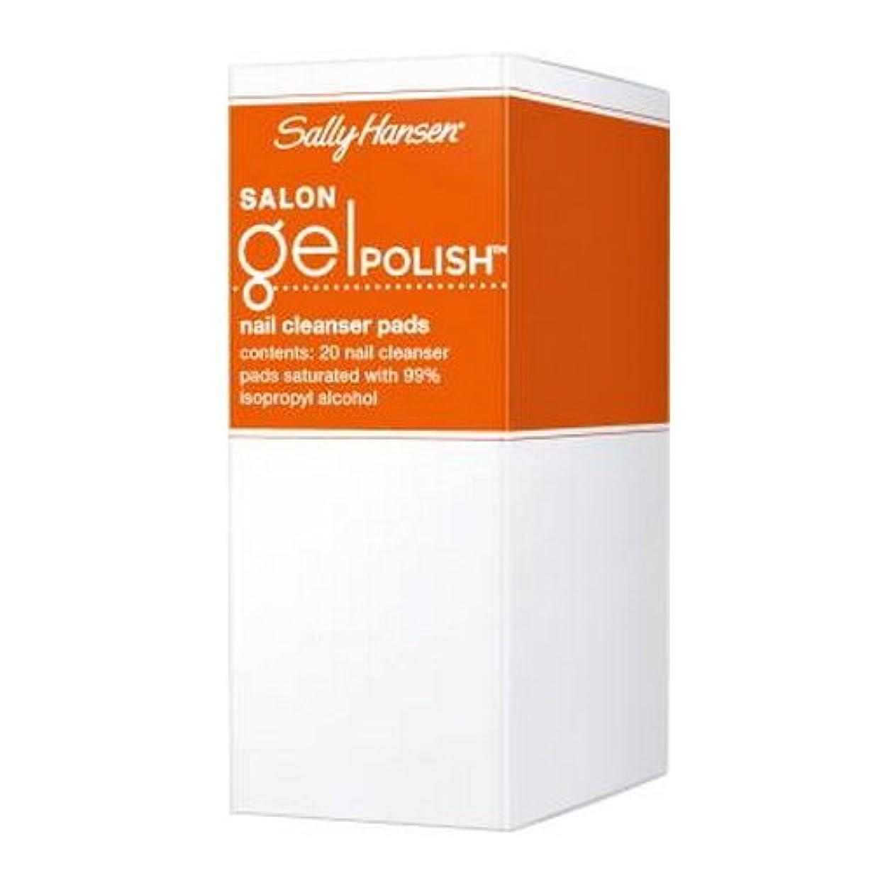 曲げる薬用寛大な(6 Pack) SALLY HANSEN Salon Gel Polish Nail Cleanser Pads - Gel Polish Cleanser Pads (並行輸入品)