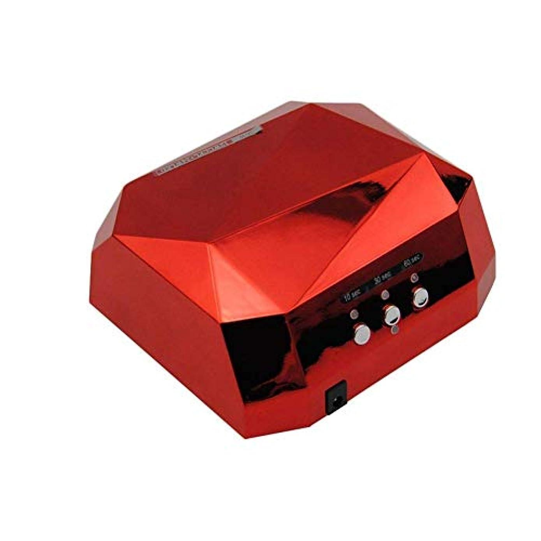 駐地妻第二ネイルドライヤーランプネイルドライヤーLEDドライヤーネイルダイヤモンド形36W UVランプUV硬化ゲルネイルポリッシュEU USプラグジェルネイルドライヤーランプ、写真の色