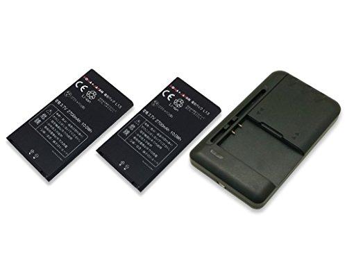 USB マルチ充電器 と docomo ドコモ モバイル Wi-Fi ルーター AGL29141 L09C L-09C の L13 EAC61579101 2個セット互換 バッテリー ロワジャパンPSEマーク付