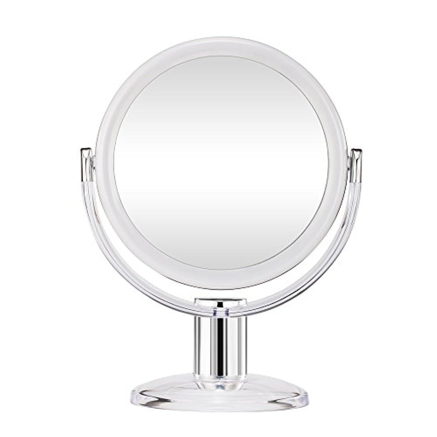 戦闘抑止する共産主義者Gotofine スタンドミラー 卓上鏡 両面鏡 10倍と等倍 透明 アクリル樹脂 おしゃれ 円型