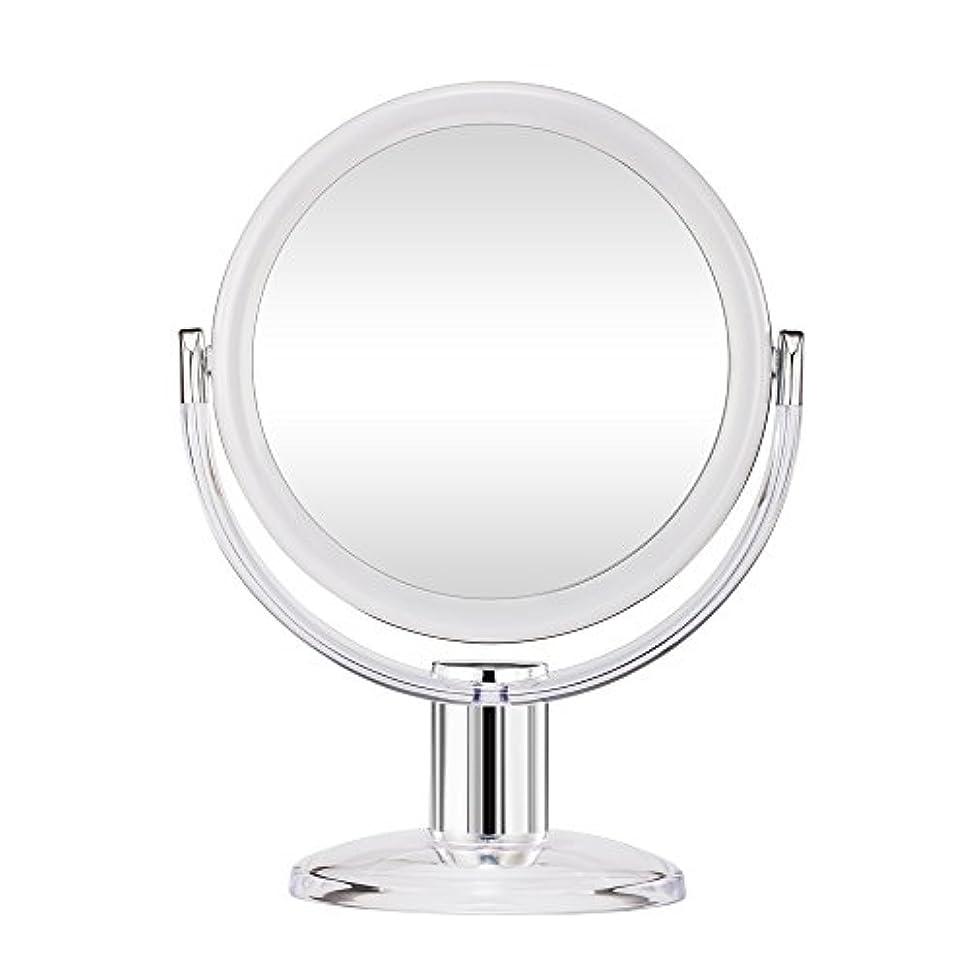 レッドデート捨てるアリスGotofine スタンドミラー 卓上鏡 両面鏡 10倍と等倍 透明 アクリル樹脂 おしゃれ 円型