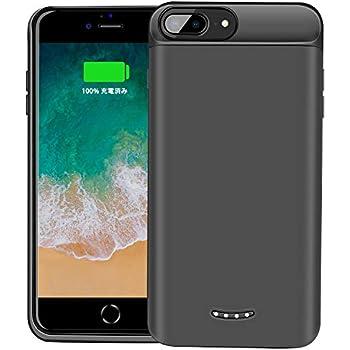 3e70b9b2db BeeFix 7500mAhバッテリー内蔵ケース iPhone8plus/6plus/6splus/7plus兼用 充電ケース ケース型バッテリー  大容量 250% バッテリー容量追加 5.5インチ用 (黒) …