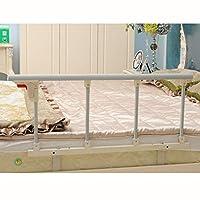 ZCXBHD ベッドガード・フェンス 折りたたみベッドレール安全補助ハンドル高齢者ベッドサイド用グラブバーバンパーハンディキャップ睡眠セキュリティ保護1個 (Bracket : 5cm, Color : White)