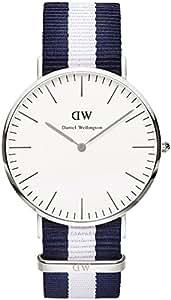 [ダニエルウェリントン]Daniel Wellington ダニエルウェリントン 腕時計 クラシック 40mm メンズ シルバー 0204DW ネイビー×ホワイト [並行輸入品]