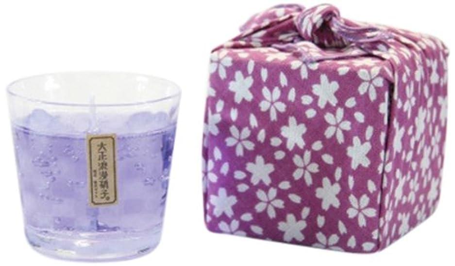 周囲無声でサスティーン江戸キャンドル カラーキャンドル 苔 市松/青紫 kou×伝統工芸 大正浪漫硝子