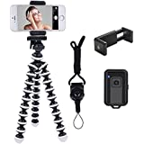Phone Tripod, Ibeston Octopus Phone Tripod Portable and Adjustable Tripod Stand Holder with Universal Clip and Bluetooth Remo