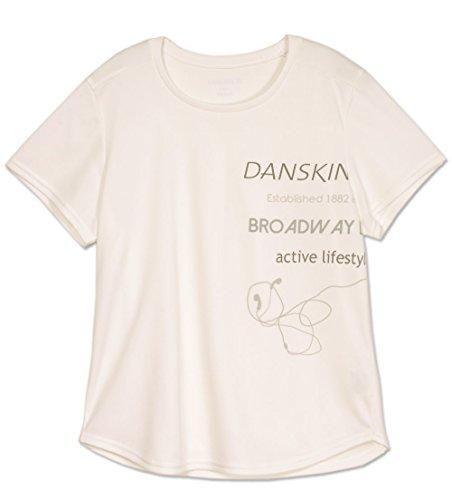 DANSKIN ダンスキン 半袖Tシャツ 0998 M ジャスミンホワイト