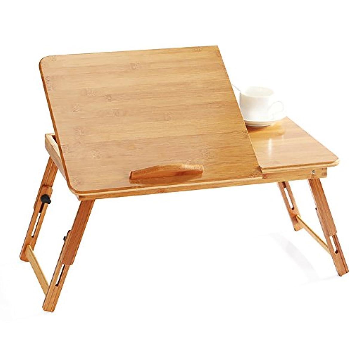 アニメーション蛇行咲く(小さな幸運)バンブーテーブル 折り畳みちゃぶ台 PCスタンド 天然竹製 50*30*30/55*35*30cm ベッドテーブル ミニテーブル 机 つくえ 軽量 コンパクト キャンプ アウトドア用 多機能