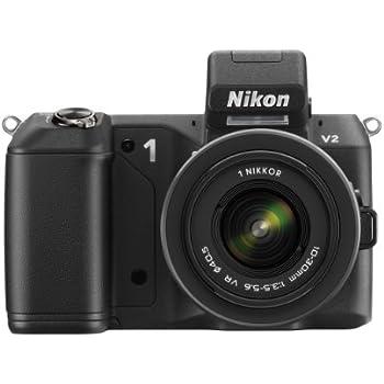 Nikon ミラーレス一眼 Nikon 1 V2 レンズキット 1 NIKKOR VR 10-30mm f/3.5-5.6付属 ブラック N1V2HLKBK