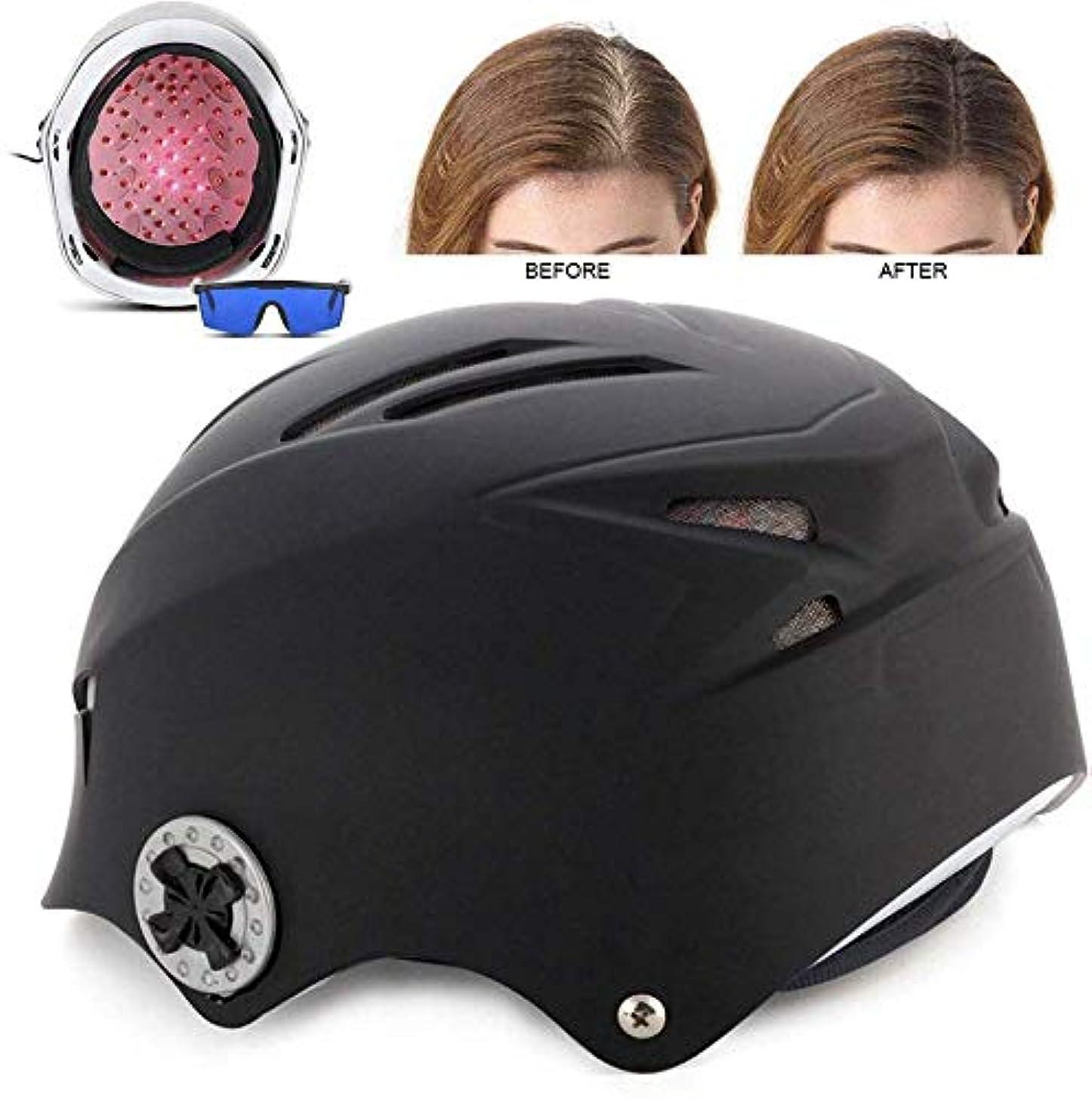 論争的汚染オープニング育毛ヘルメット、64ダイオードメディカルグレードの髪の再成長キャップ、抜け毛の問題を解決するための発毛、赤外線治療髪の成長を促進ハット
