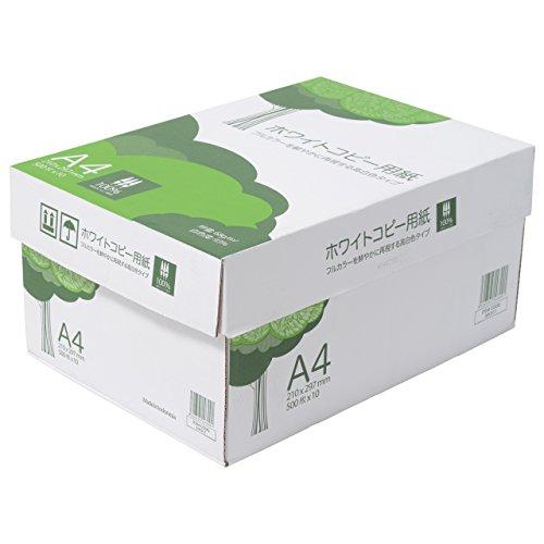 コピー用紙 A4 ホワイトコピー用紙 高白色 紙厚0.09mm 5000枚(500×10) AIK911