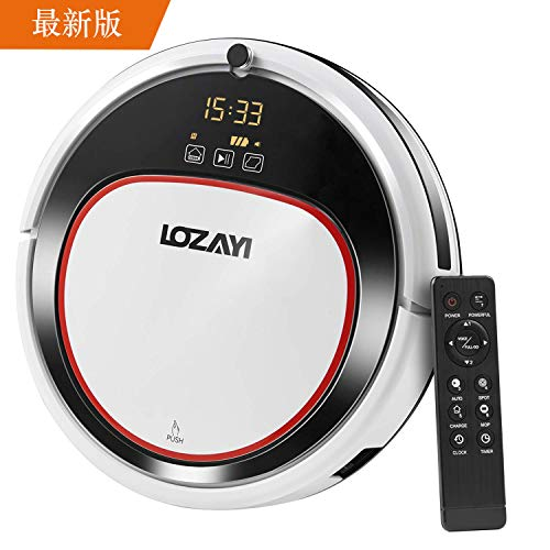 LOZAYI ロボット掃除機 6つの掃除モード 吸い・拭き両...