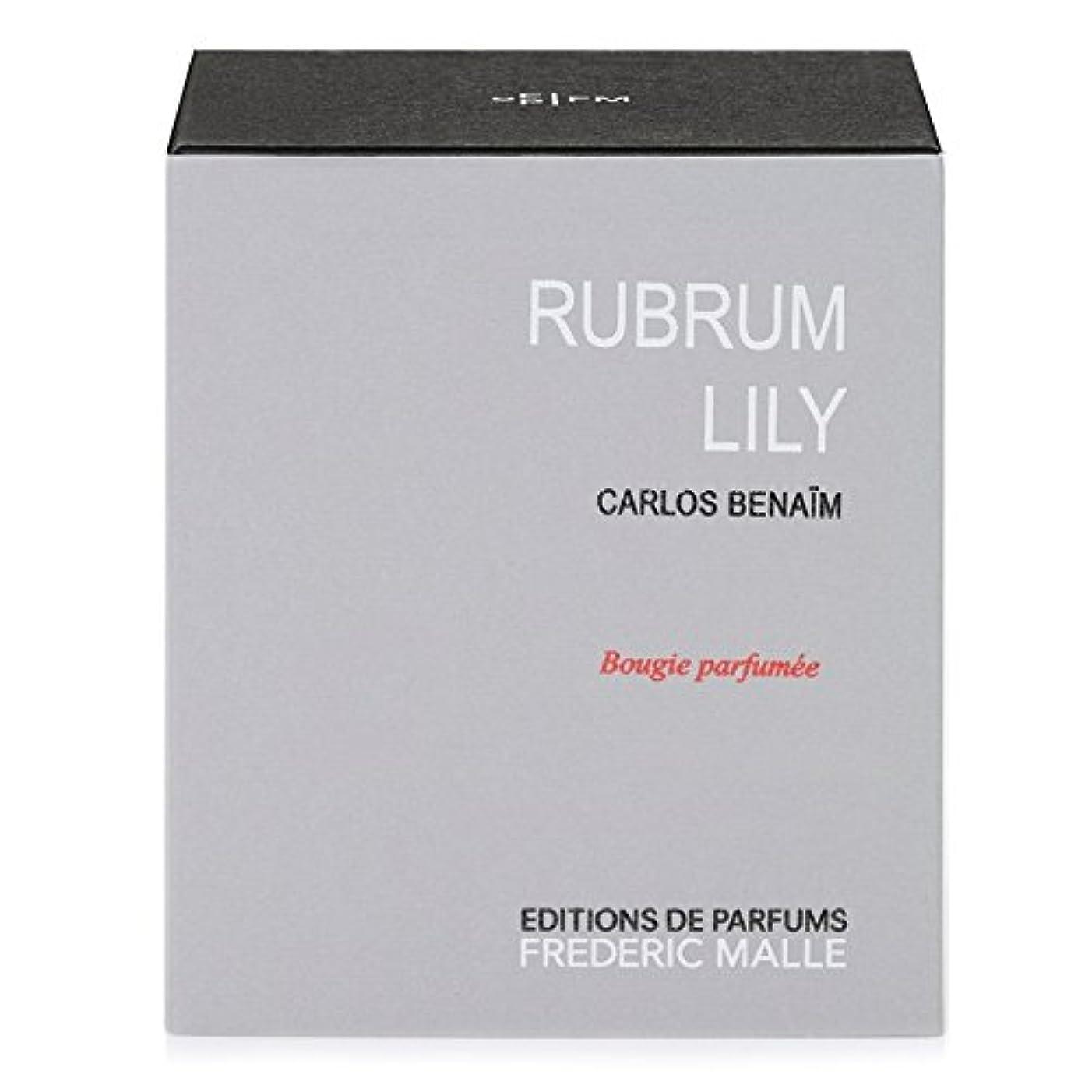 高揚したパーク折り目Frederic Malle Rubrum Lily Scented Candle - フレデリック?マルルブルムユリの香りのキャンドル [並行輸入品]
