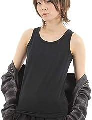 胸つぶし ナベシャツ タンクトップ 3列6段フック&ゴム 黒L