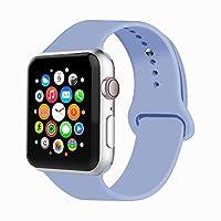 Iyouスポーツバンドfor Apple Watchバンド、ソフトシリコン交換用リストバンドクラシックスポーツストラップiWatch 2017年のApple Watchシリーズ3/ 2/ 1、Edition、Nike +詳細は、すべてのモデル38mm / 42mm色選択 38MM, S/M