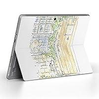 Surface go 専用スキンシール サーフェス go ノートブック ノートパソコン カバー ケース フィルム ステッカー アクセサリー 保護 猫 イラスト 動物 014739
