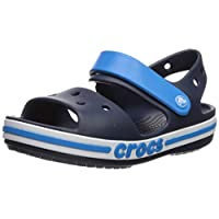 Crocs Kids' Boys and Girls Bayaband Sandal, Navy 11 M US Little Kid