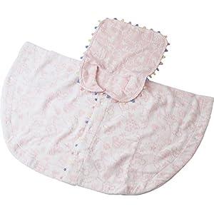 UCHINO Disney ベビーポンチョ プチフィールド (ベビー80cm) ピンク