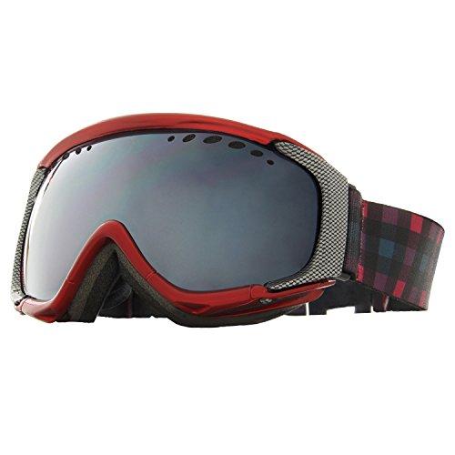 VAXPOT(バックスポット) スノーボードゴーグル 偏光レンズ ミラーレンズ ダブルレンズ くもり止め加工 UVカット メンズ・レディース兼用 VA-3611 RED(偏光タイプ) フリーサイズ