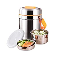 保温ランチジャー ステンレス鋼断熱食品収納容器魔法瓶食品ジャー、3層学生子供の大容量ランチボックス1.6リットル (Color : 2.0L)