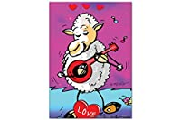 冷蔵庫用マグネット Fridge Magnet Retro FeliX Love sheep guitar