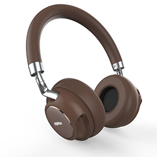 MOMOX ワイヤレス Bluetooth ヘッドホン 密閉型ヘッドフォン 高音質 スステレオ ノイズキャンセリング 低音重視 Bluetooth4.2 有線無線兼用 25時間連続再生 ハンズフリー通話可能 (ブラウン)
