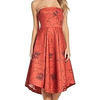 Cooper St Orange Women's US Size 12 Strapless Floral Sheath Dress